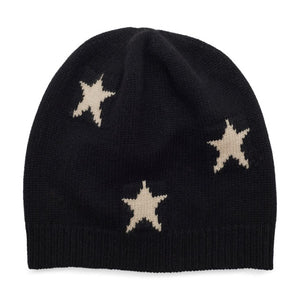 Starry Beanie - Black & Cream