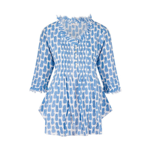 SOPHIE BLUE PINEAPPLE SHORT KAFTAN