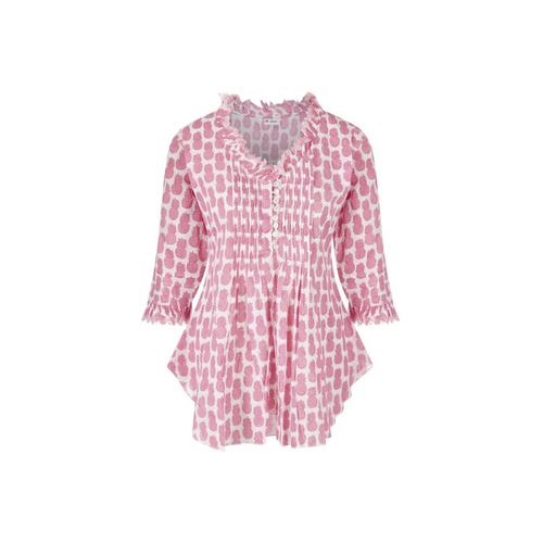 SOPHIE PINK PINEAPPLE SHORT KAFTAN