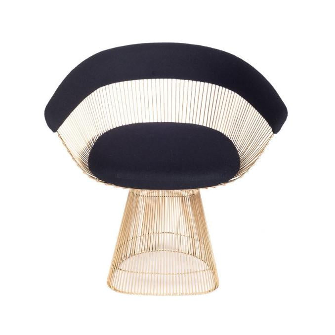Brass And Wool Curve Chair Collection