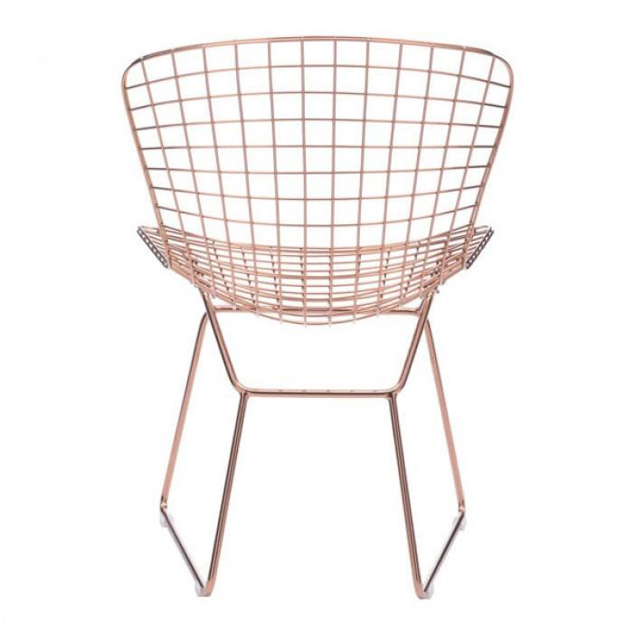 Rose Gold Wire Chair - Pair