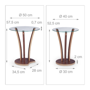 Table basse d'appoint ronde lot de 2 plateau 13_0002683