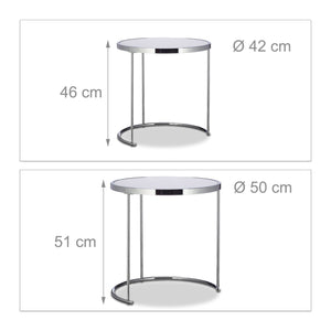 Table basses d'appoint ronde console chrome 13_0002678
