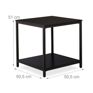 Table basse d'appoint 51 cm noir 13_0002640