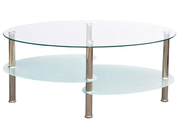 Table basse design blanche verre  0902001