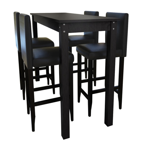 Lot de 4 tabourets de bar avec table haute 1202004