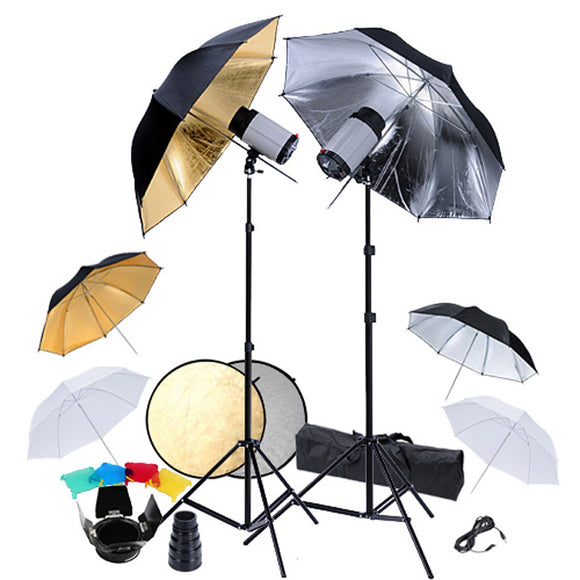 Kit Photo 2 Flashes parapluies réflecteur 1802031