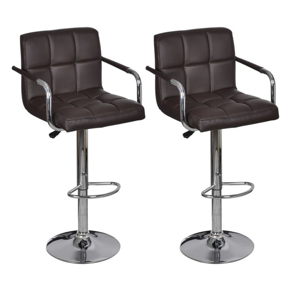 Lot de deux tabourets de bar design chaise siège avec accoudoir 2 pcs marron 1202137