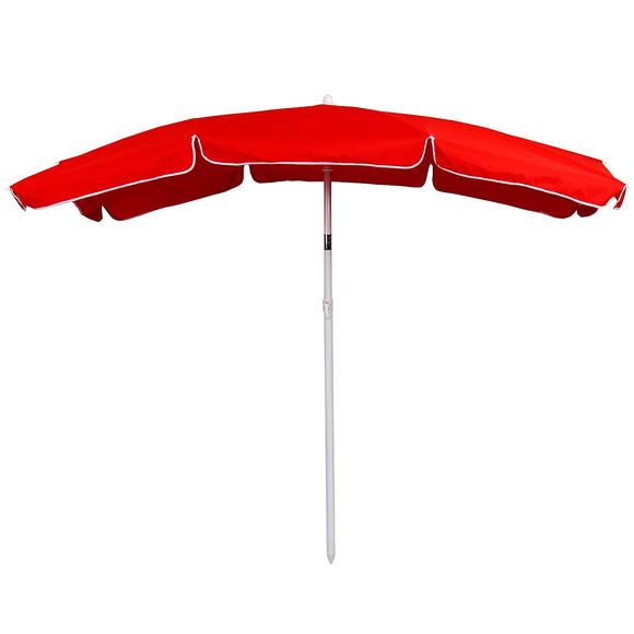 Parasol de jardin rectangle 2 x 1,55 m abri meuble rouge 2201125