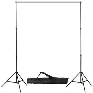 Support de fond pour studio photo réglable en Hauteur 0,8m/2.13 m Largeur 1,4m/2,9m sac de transport Inclus 1801001