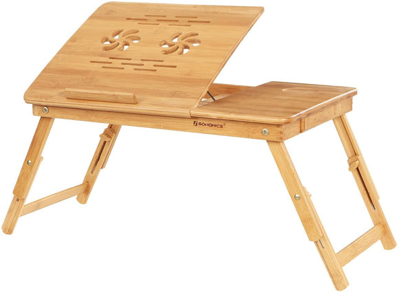 Table de lit pour ordinateur PC portable plateau inclinable bambou 12_0001052