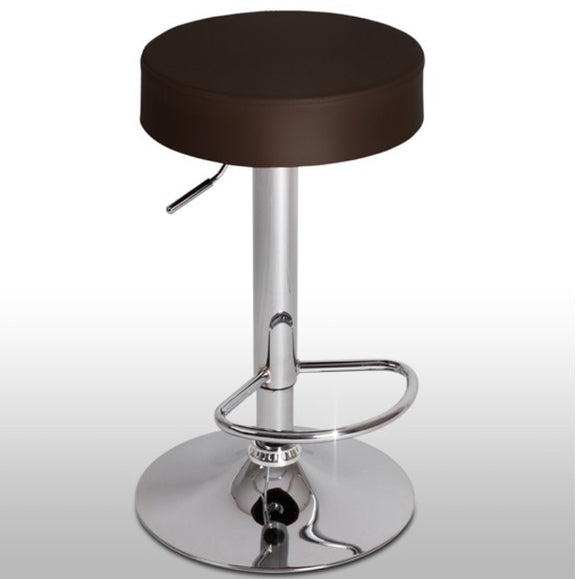 Lot de 2 tabourets de bar marron design rond  moderne 1201054