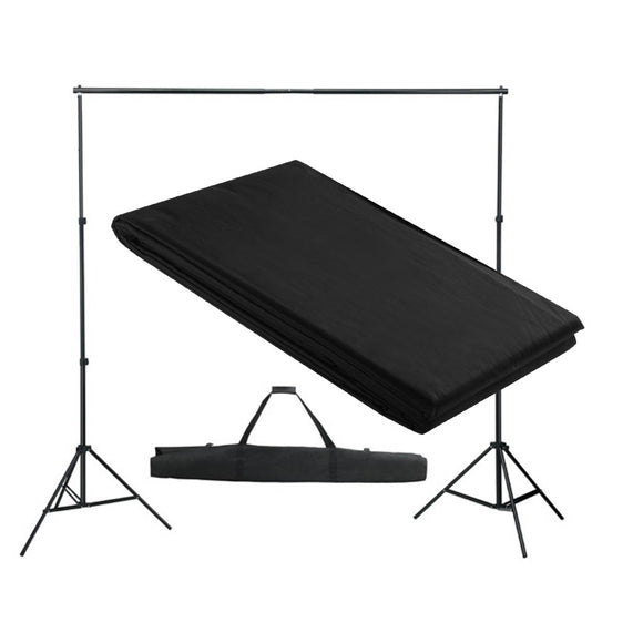Kit Complet Studio Photo + Fond noir 3x3 1802013