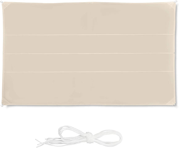 Voile d'ombrage rectangle 4 x 6 m beige 13_0002930_4