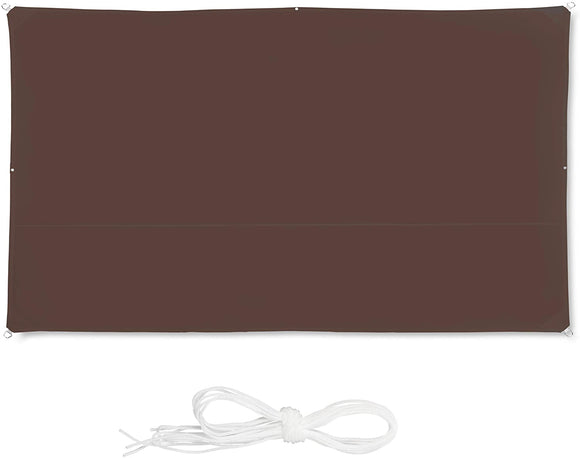 Voile d'ombrage rectangle 2 x 4 m brun 13_0002932_2