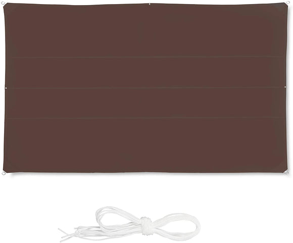 Voile d'ombrage rectangle 4 x 6 m brun 13_0002932_4