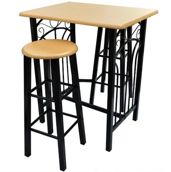 Lot de 2 tabourets de bar + table haute 1202006