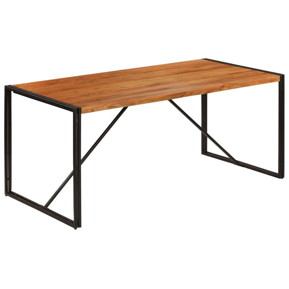 Table de salon salle à manger design bois acacia finition sesham 180 cm 0902305