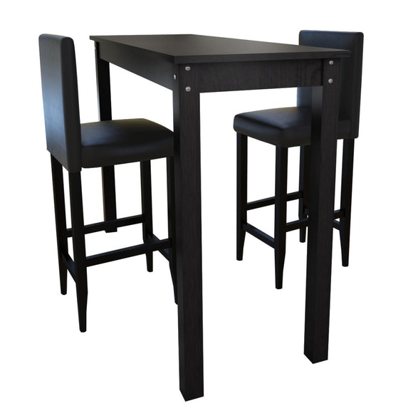 Lot de 2 tabourets de bar avec table haute 1202005