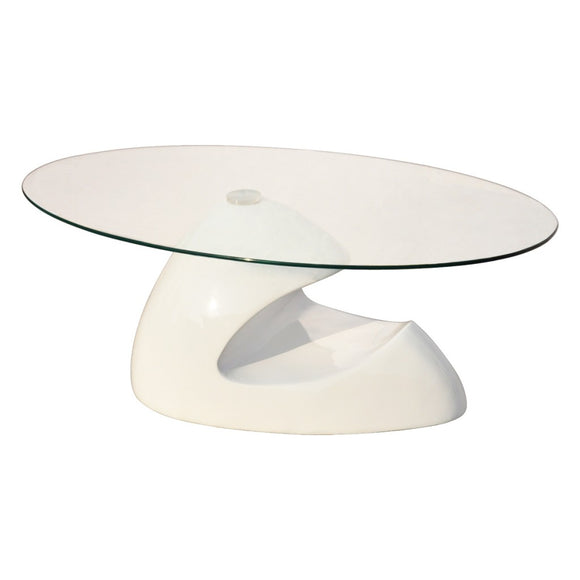 Table basse design noir verre  0902014