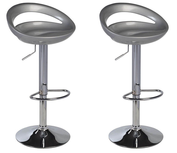 Lot de 2 Tabourets de bar gris 1209033