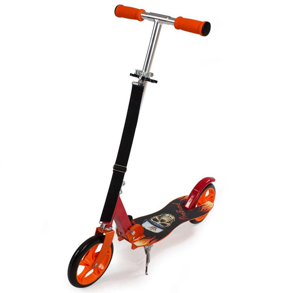 Trottinette patinette scooter enfant pliable orange 0108013