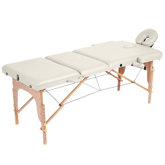 Table de massage pliante 3 zones crème 2002013