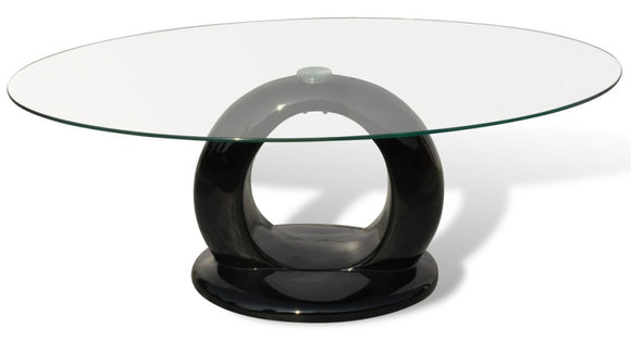 Table basse design noir verre  0902011