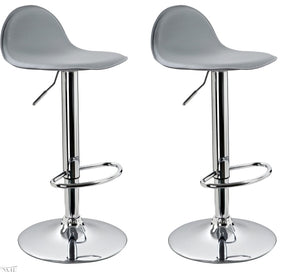 Lot de 2 Tabourets de bar gris 1209024
