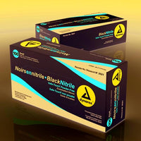 Nitrile Exam Gloves  Black Powder-Free  Medium  Bx/100