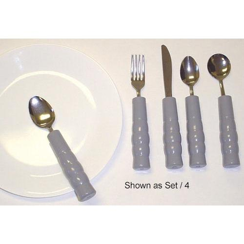 Weighted Utensils Set/4 Tea & Soupspoon Fork & Knife