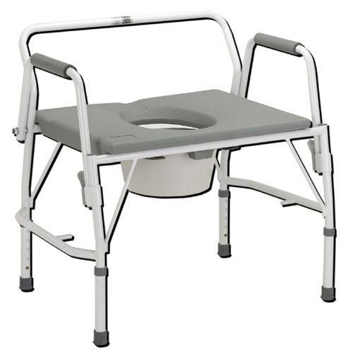 Bariatric Drop-Arm Commode Deluxe  Assembled