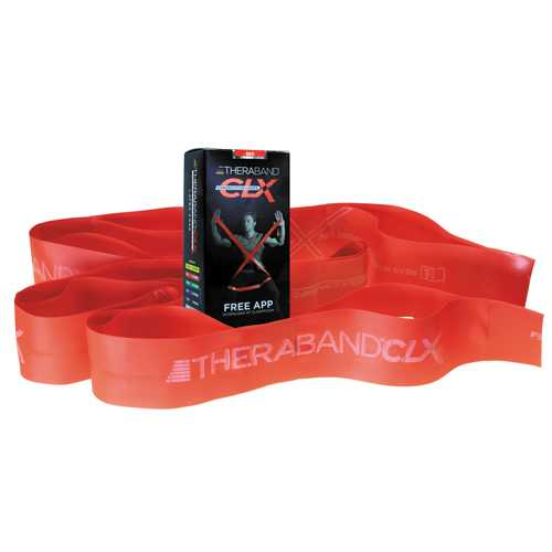 Theraband Consecutive Loops Red 5' Individual  9-Loop