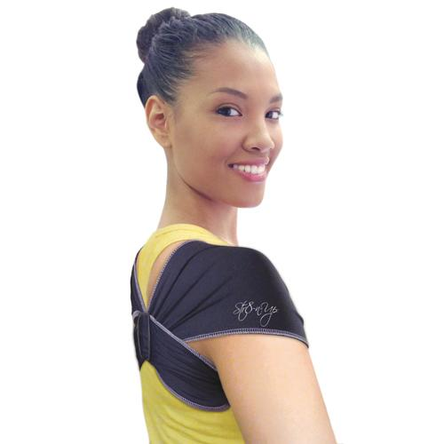 STR8-N-UP Posture Support XSmall  Solid Black