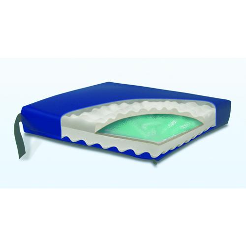 Gel Convoluted Foam Cushion 18  x 16  x 3   Navy