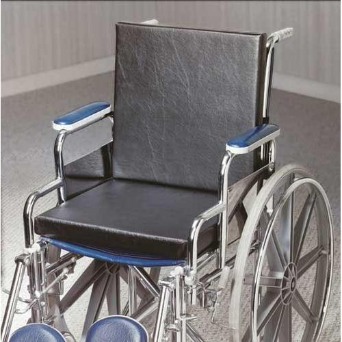 Solid Back Insert Wheelchair Cushion  18 x16 x1.25  w/Strap