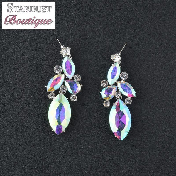 AB crystal prom and pageant earrings.