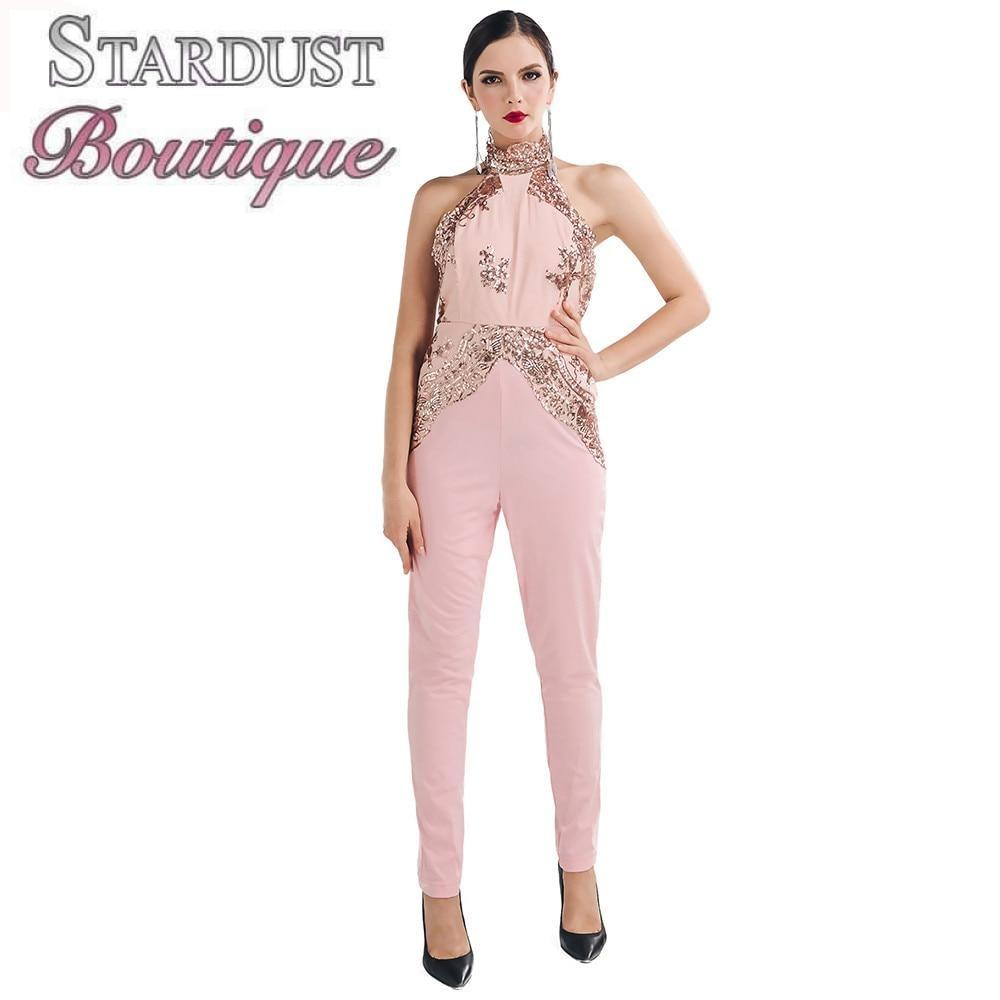 Gorgeous Sequin Sleeveless Jumpsuit Jumpsuit
