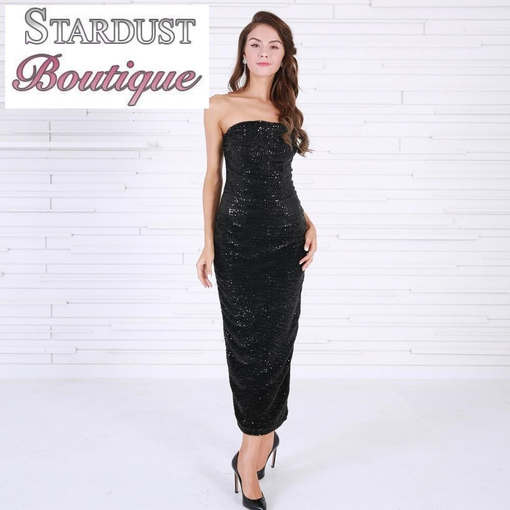 Ankle Length Sequin Dress
