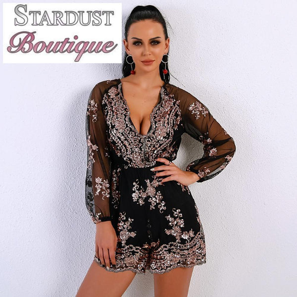 Beautiful Embroidered Sequin Playsuit