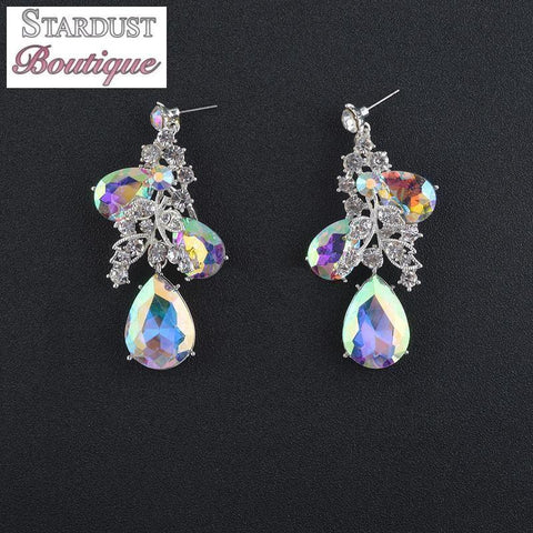 AB crystal pageant and prom earrings.