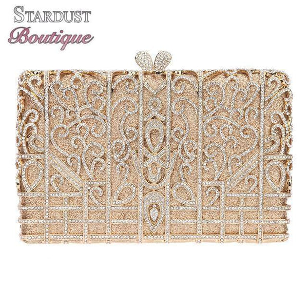 Rhinestone clutch in a variety of colours