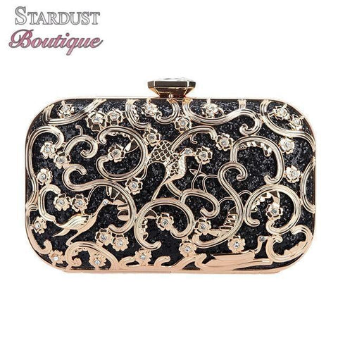 Bird Glitter Hard Shell Clutch Purse Fashion Clutch