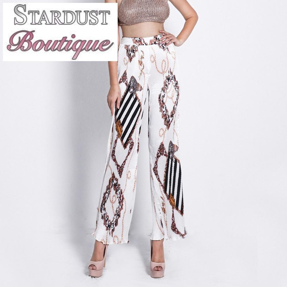 Gorgeous Patterned High Waist Trousers Bottoms
