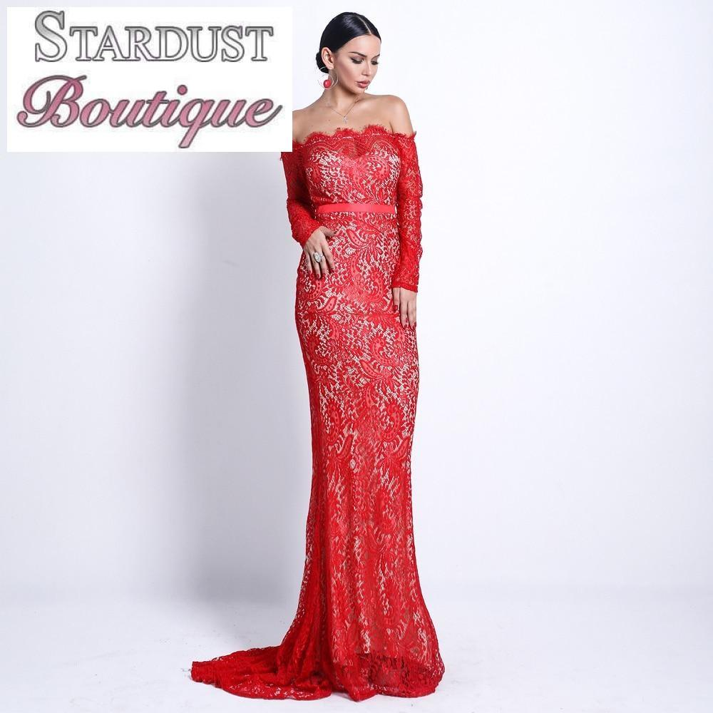 Elegant Lace Floor-Length Gown Dress