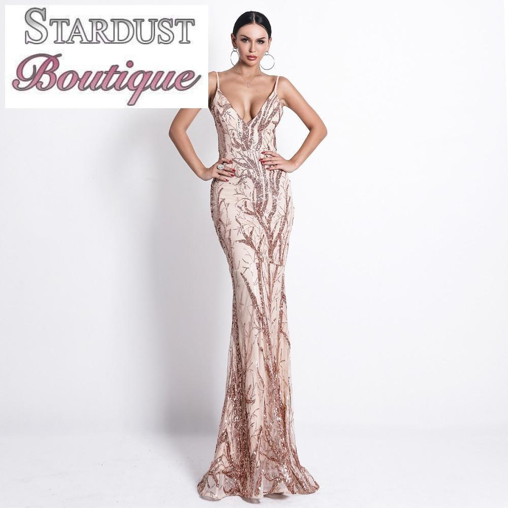 Gorgeous Sequin Design Evening Dress Dress