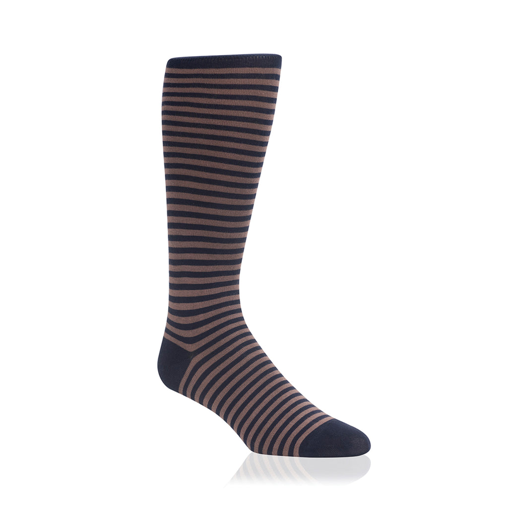 BROWN & NAVY CANDY STRIPE
