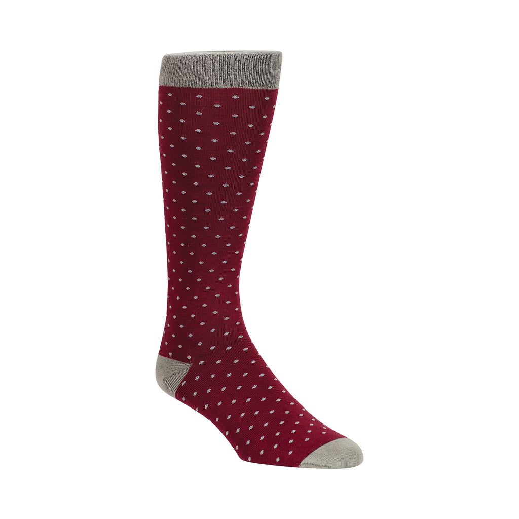 BURGUNDY ENGLISH DOTS