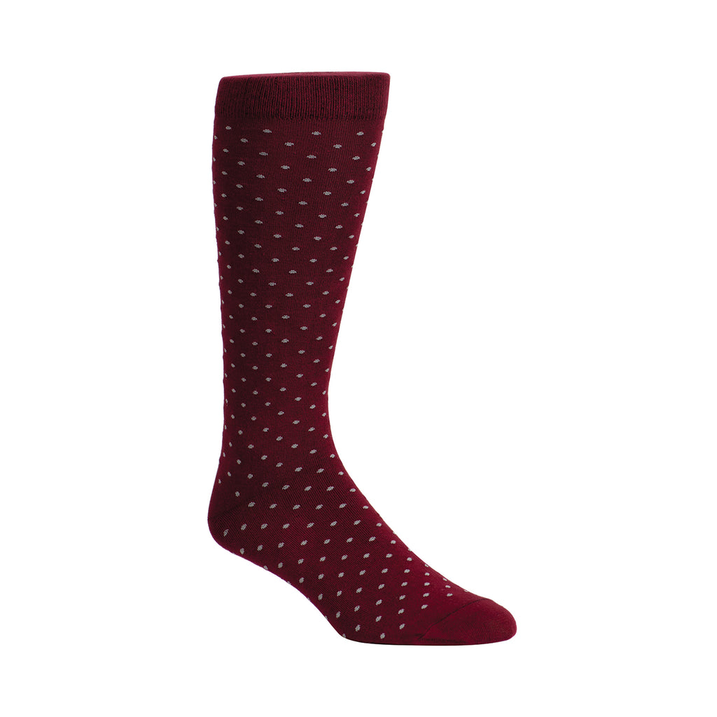MAROON ENGLISH DOTS
