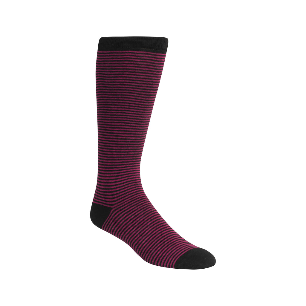 MAGENTA & BLACK FINE STRIPE
